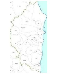 Mappa dei comuni e CAP della provincia di Ogliastra PowerPoint
