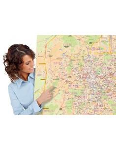 Mappa dei CAP di Roma - Pannello 120x120 cm