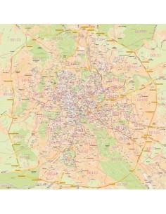 Roma Centro Cartina.Mappa Dei Cap Di Roma Pannello 120x120 Cm