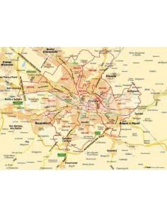 Mappa di Firenze jpg 1:100.000 con CAP