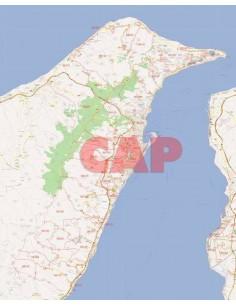 Mappa dei cap di Messina jpg