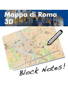 Mappa di Roma su Block Notes A3+