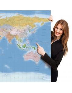 Mappa del Mondo (Hypsometric) - PANNELLO 200 x 100 cm