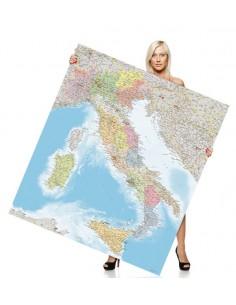 Mappa dell'Italia Politica - PANNELLO 120x135 cm