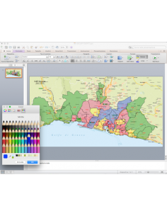 Mappa dei CAP di Genova con stradario PowerPoint