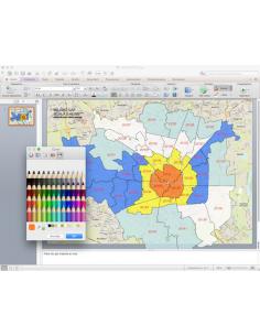 Mappa dei CAP di Milano con stradario PowerPoint
