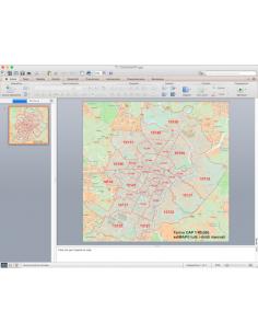Mappa dei CAP di Torino con stradario PowerPoint