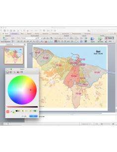 Mappa dei CAP di Bari con stradario PowerPoint