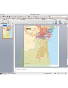 Mappa dei CAP di Catania con stradario PowerPoint