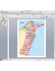 Mappa dei CAP di Messina con stradario PowerPoint