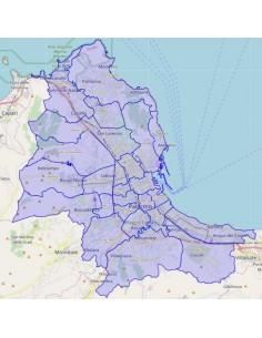 Mappa dei quartieri di Palermo KML
