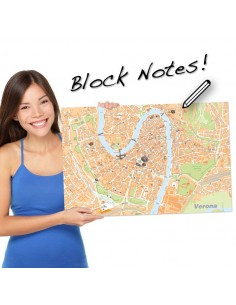 Mappa di Verona su Block Notes A3+