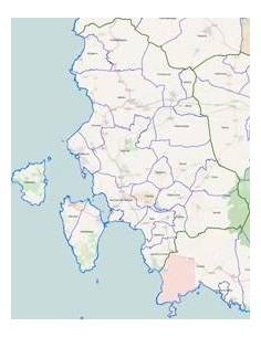 Mappa dei comuni della provincia di Carbonia-Iglesias pdf