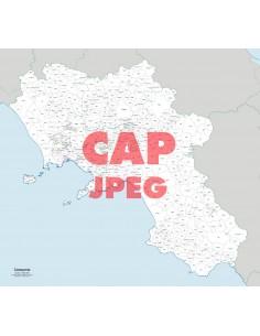Mappa dei comuni e CAP della Campania jpg