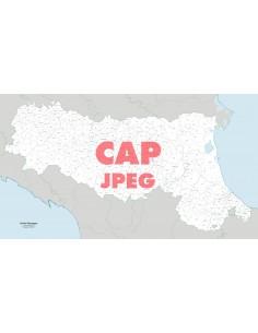 Mappa dei comuni e CAP dell'Emilia Romagna jpg