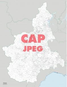 Mappa dei comuni e CAP del Piemonte jpg