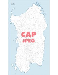 Mappa dei comuni e CAP della Sardegna jpg