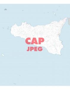 Mappa dei comuni e CAP della Sicilia jpg