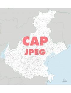Mappa dei comuni e CAP del Veneto jpg