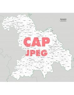 Mappa dei comuni e CAP della provincia di Alessandria jpg