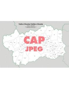 Mappa dei comuni e CAP della provincia di Aosta jpg
