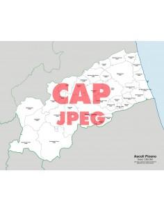 Mappa dei comuni e CAP della provincia di Ascoli Piceno jpg