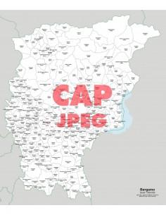 Mappa dei comuni e CAP della provincia di Bergamo jpg