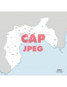 Mappa dei comuni e CAP della provincia di Cagliari jpg