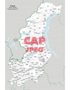 Mappa dei comuni e CAP della provincia di Como jpg