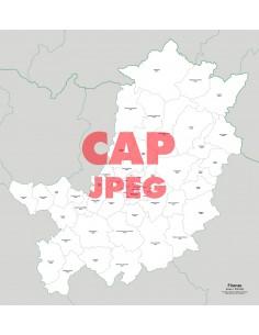 Mappa dei comuni e CAP della provincia di Firenze jpg