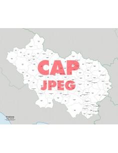 Mappa dei comuni e CAP della provincia di Frosinone jpg