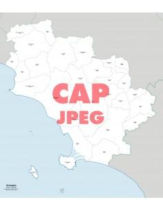 Mappa dei comuni e CAP della provincia di Grosseto jpg