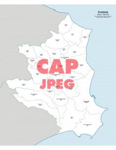 Mappa dei comuni e CAP della provincia di Crotone jpg