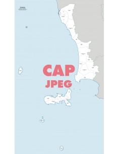 Mappa dei comuni e CAP della provincia di Livorno jpg