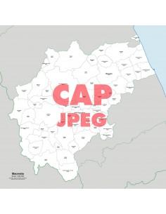 Mappa dei comuni e CAP della provincia di Macerata jpg