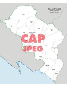Mappa dei comuni e CAP della provincia di Massa-Carrara jpg