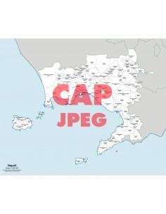 Mappa dei comuni e CAP della provincia di Napoli jpg