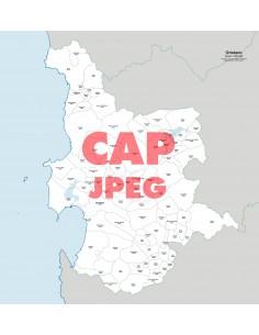 Mappa dei comuni e CAP della provincia di Oristano jpg
