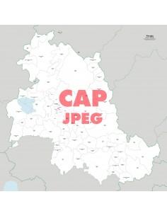 Mappa dei comuni e CAP della provincia di Perugia jpg
