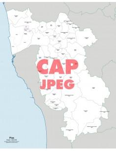 Mappa dei comuni e CAP della provincia di Pisa jpg