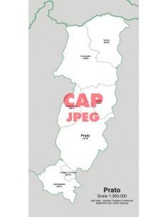 Mappa dei comuni e CAP della provincia di Prato jpg