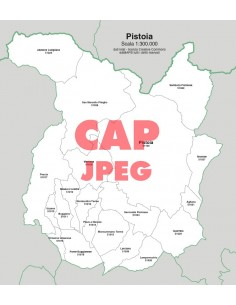 Mappa dei comuni e CAP della provincia di Pistoia jpg