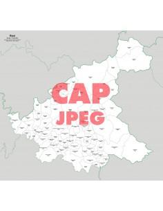 Mappa dei comuni e CAP della provincia di Rieti jpg