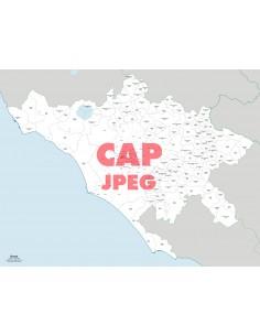 Mappa dei comuni e CAP della provincia di Roma jpg