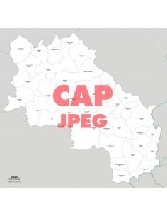 Mappa dei comuni e CAP della provincia di Siena jpg