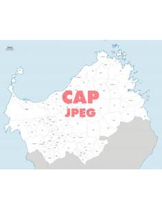 Mappa dei comuni e CAP della provincia di Sassari jpg