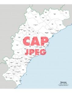 Mappa dei comuni e CAP della provincia di Savona jpg