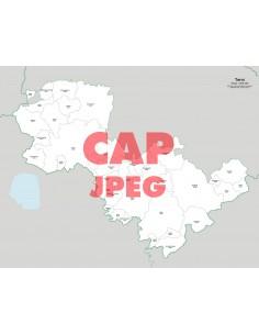 Mappa dei comuni e CAP della provincia di Terni jpg