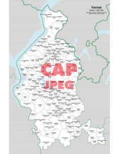 Mappa dei comuni e CAP della provincia di Varese jpg
