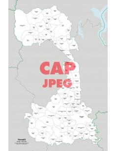Mappa dei comuni e CAP della provincia di Vercelli jpg